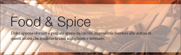 Cibi e spezie prestano i loro aromi alle candele Yankee Candle che trovi da NewOld, Roma